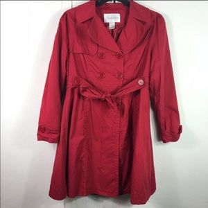 Chadwick's red lightweight peacoat